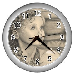Light1 Wall Clock (silver) by TonyaButcher