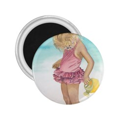Beach Play Sm 2 25  Button Magnet by TonyaButcher