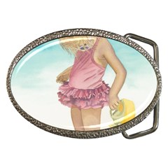 Beach Play Sm Belt Buckle (oval) by TonyaButcher
