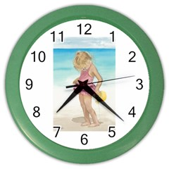 Beach Play Sm Wall Clock (color) by TonyaButcher
