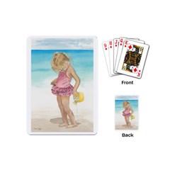 Beach Play Sm Playing Cards (mini) by TonyaButcher
