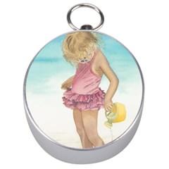 Beach Play Sm Silver Compass by TonyaButcher