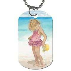 Beach Play Sm Dog Tag (One Sided) by TonyaButcher