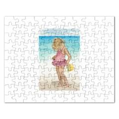 Beach Play Sm Jigsaw Puzzle (rectangle) by TonyaButcher