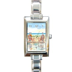 Time To Relax Rectangular Italian Charm Watch by TonyaButcher