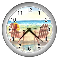 Time To Relax Wall Clock (silver) by TonyaButcher