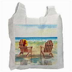 Time To Relax White Reusable Bag (two Sides) by TonyaButcher