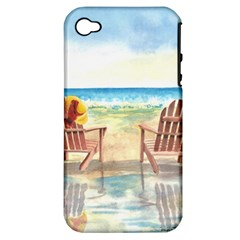 Time To Relax Apple Iphone 4/4s Hardshell Case (pc+silicone) by TonyaButcher
