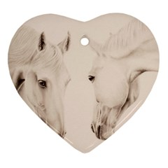 Tender Approach  Heart Ornament (two Sides) by TonyaButcher