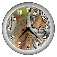 Soft Protection Wall Clock (silver) by TonyaButcher