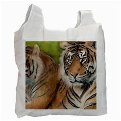 Soft Protection White Reusable Bag (two Sides) by TonyaButcher