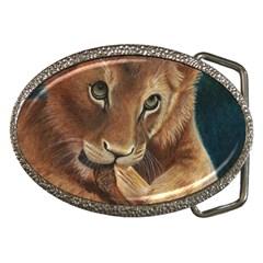 Playful  Belt Buckle (oval) by TonyaButcher