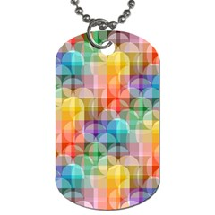 Circles Dog Tag (two Sided)  by Lalita