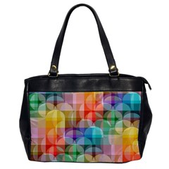 Circles Oversize Office Handbag (one Side) by Lalita