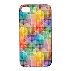 Circles Apple Iphone 4/4s Hardshell Case With Stand