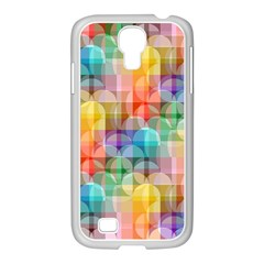 Circles Samsung Galaxy S4 I9500/ I9505 Case (white) by Lalita