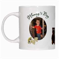 Mommy s Boy White Mug By Chere s Creations   White Mug   4ky00zak6ege   Www Artscow Com Left