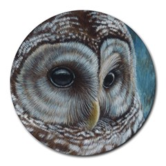 Barred Owl 8  Mouse Pad (round)