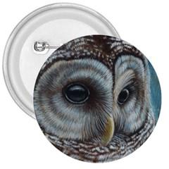 Barred Owl 3  Button by TonyaButcher