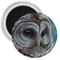 Barred Owl 3  Button Magnet by TonyaButcher