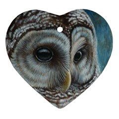 Barred Owl Heart Ornament by TonyaButcher