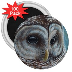 Barred Owl 3  Button Magnet (100 Pack) by TonyaButcher