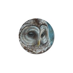 Barred Owl Golf Ball Marker 4 Pack by TonyaButcher