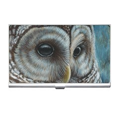 Barred Owl Business Card Holder