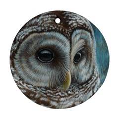 Barred Owl Round Ornament (two Sides) by TonyaButcher
