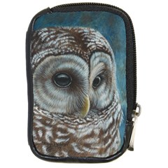 Barred Owl Compact Camera Leather Case by TonyaButcher