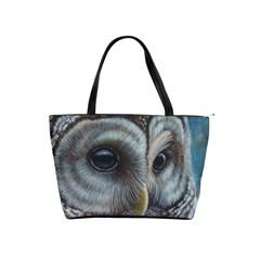 Barred Owl Large Shoulder Bag by TonyaButcher