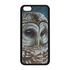 Barred Owl Apple Iphone 5c Seamless Case (black) by TonyaButcher