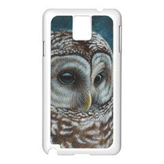 Barred Owl Samsung Galaxy Note 3 N9005 Case (white)
