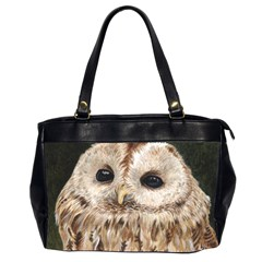 Tawny Owl Oversize Office Handbag (two Sides) by TonyaButcher