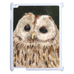 Tawny Owl Apple Ipad 2 Case (white) by TonyaButcher