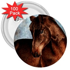 Midnight Jewel  3  Button (100 Pack)