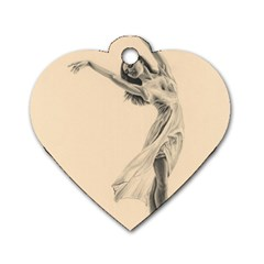 Graceful Dancer Dog Tag Heart (one Sided)