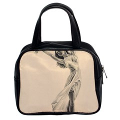 Graceful Dancer Classic Handbag (two Sides) by TonyaButcher