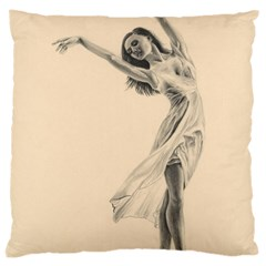 Graceful Dancer Large Cushion Case (Two Sided)