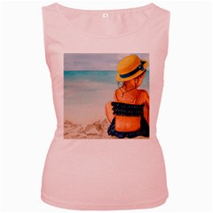 A Day At The Beach Women s Tank Top (pink) by TonyaButcher