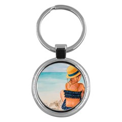 A Day At The Beach Key Chain (round) by TonyaButcher