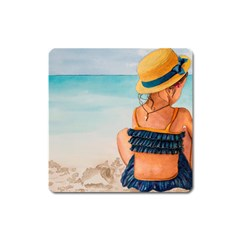 A Day At The Beach Magnet (square) by TonyaButcher