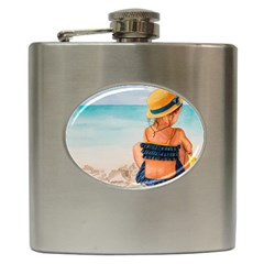 A Day At The Beach Hip Flask by TonyaButcher