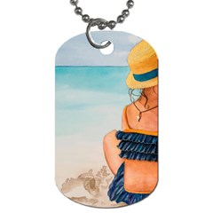 A Day At The Beach Dog Tag (two Sided)