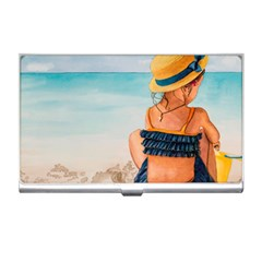 A Day At The Beach Business Card Holder by TonyaButcher