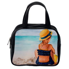 A Day At The Beach Classic Handbag (one Side) by TonyaButcher