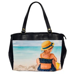 A Day At The Beach Oversize Office Handbag (two Sides)