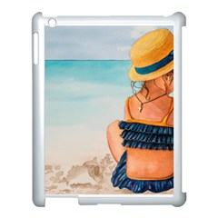 A Day At The Beach Apple iPad 3/4 Case (White) by TonyaButcher