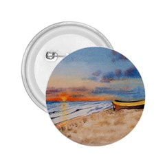 Sunset Beach Watercolor 2 25  Button by TonyaButcher