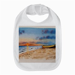 Sunset Beach Watercolor Bib by TonyaButcher
